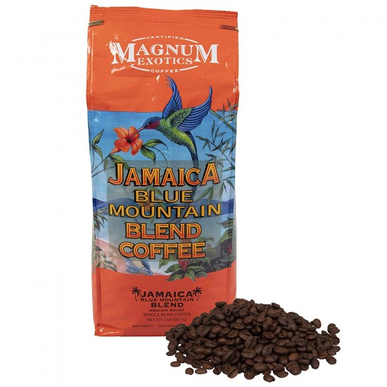 Кофе в зернах Magnum Exotics Jamaica Blue Mountain Blend Coffee Whole Bean 907г.