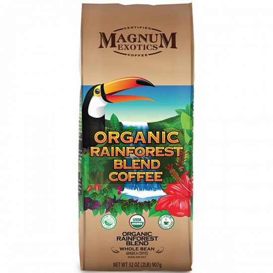 Magnum Exotics Organic Rainforest Blend Whole Bean 907 г